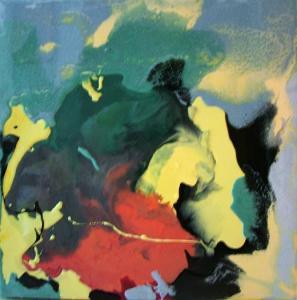 Desolacion Resina epoxi y pigmentos / Tabla50 x 50 cm.