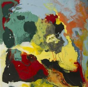 Temor Resina epoxi y pigmentos / Tabla50 x 50 cm.